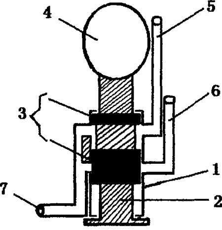 摩托车然油箱开关活塞推拉式紧急备用自动结构