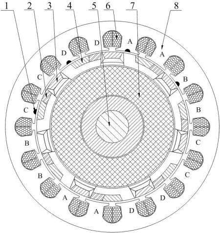 一种高可靠性的四相交流起动发电机