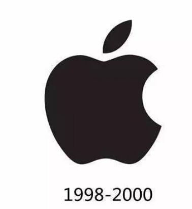 1998-2000纯黑苹果logo商标图片