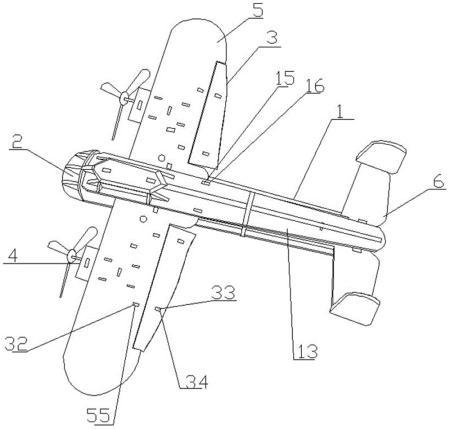 一种拼装玩具轰炸机