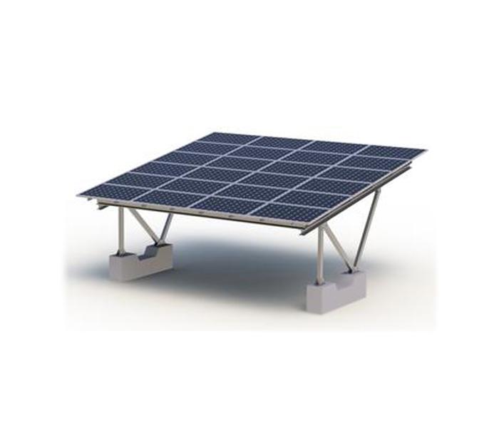 一种推顶部件带有转动轮的太阳能电池板安装架
