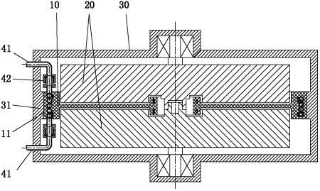 一种飞轮储能系统定子散热装置及飞轮储能系统