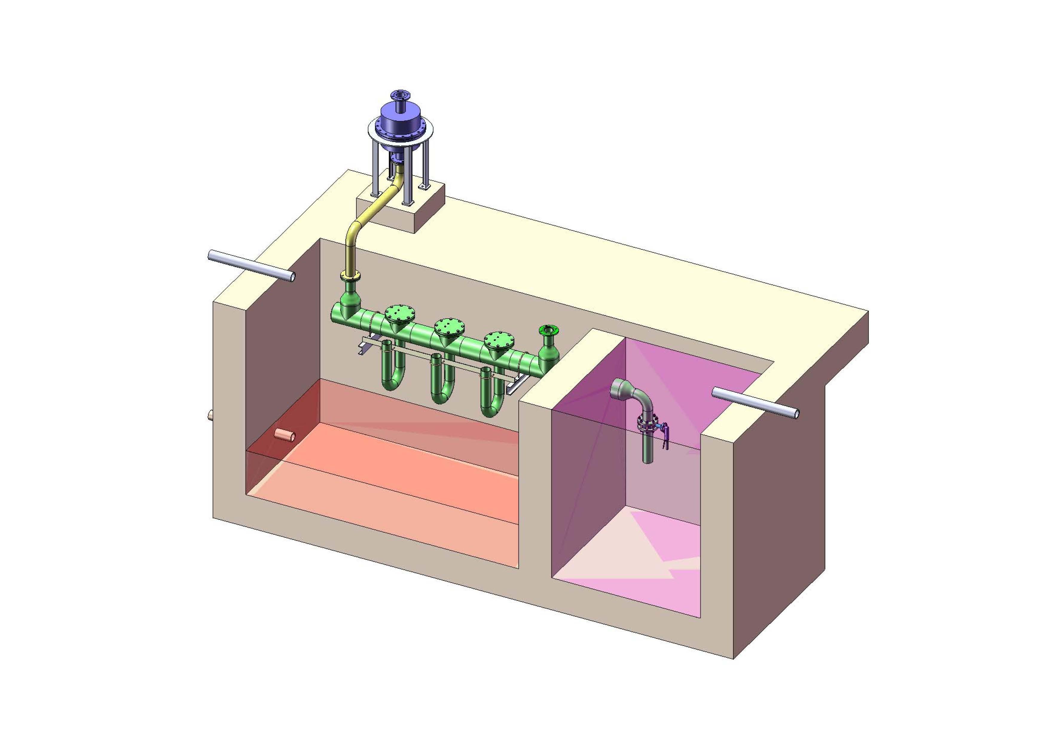 生物反应池废气的液体洗涤消毒装置