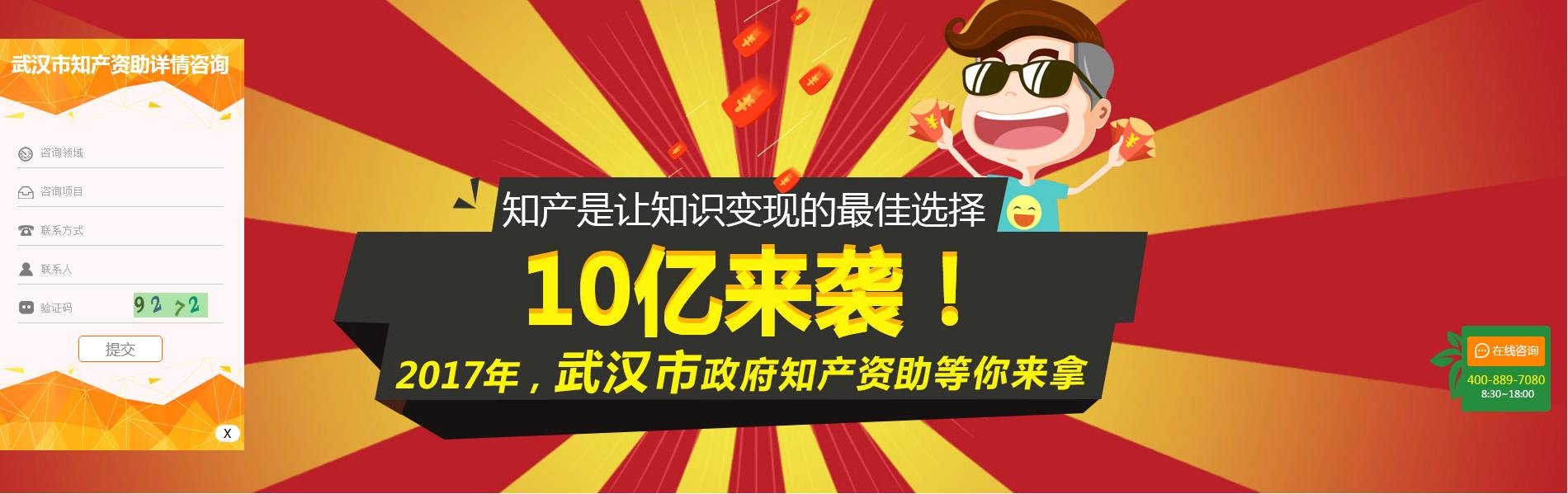 2017年,武汉市政府知产资助等你来拿!