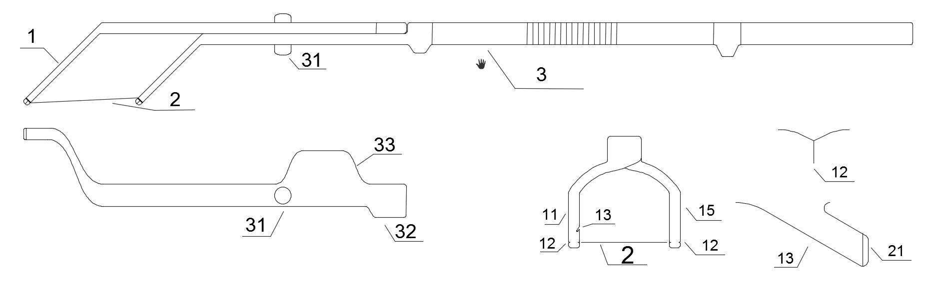 旋转式可换线牙线棒