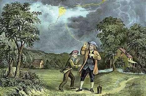 本杰明·富兰克林放风筝