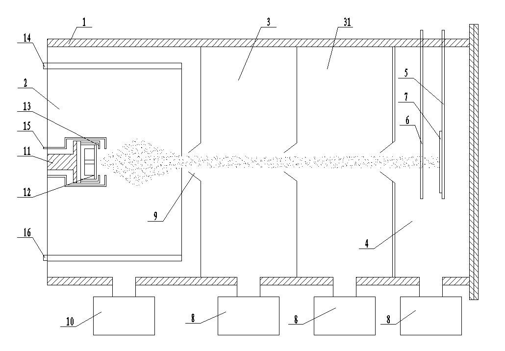 WO3团簇束流沉积系统及利用其制备WO3薄膜的方法