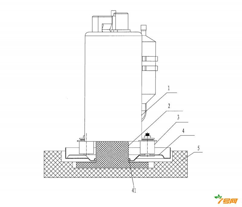 一种防止空调器室外机底盘变形的包装结构