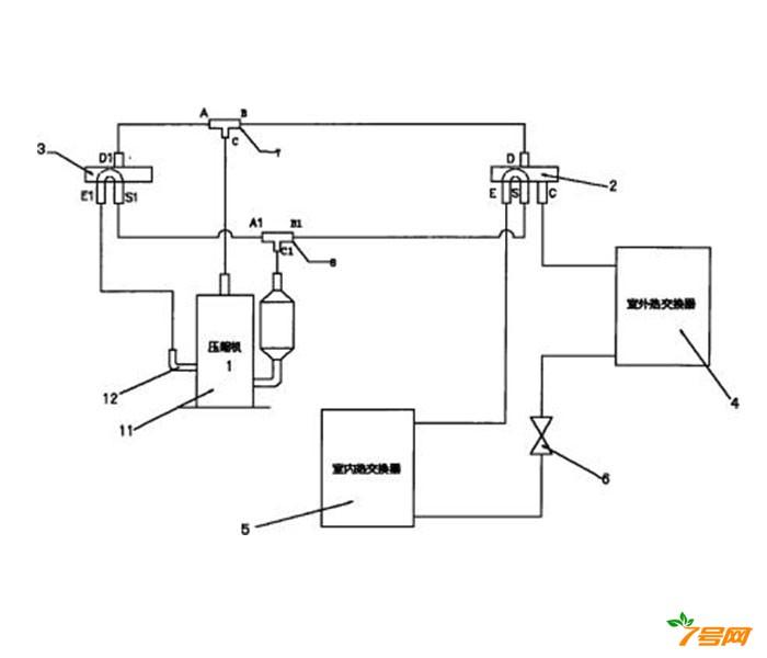 一种双缸变容压缩机空调系统及其控制方法