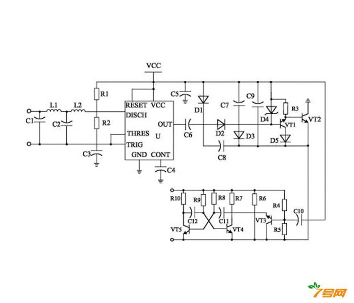 proteus倍频器电路图