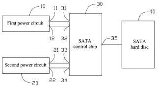 POWER SUPPLY CIRCUIT FOR SATA CONTROL CHIP